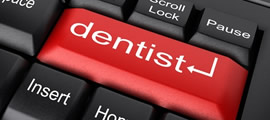 Cosmetic dentist keyboard button appointment request
